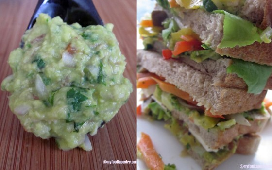 Guacamole and a very healthy - yummy sandwich!