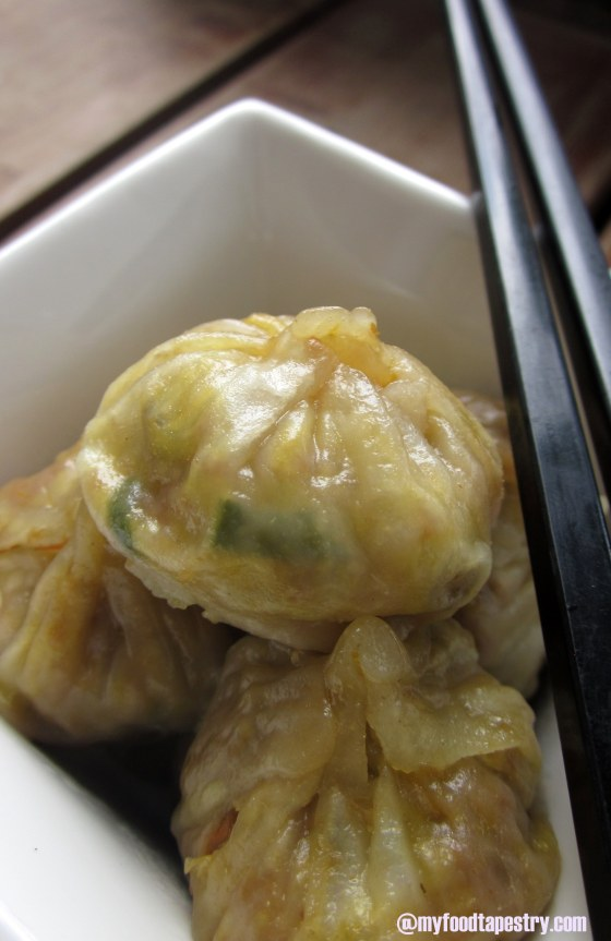 Steamed hot dumplings